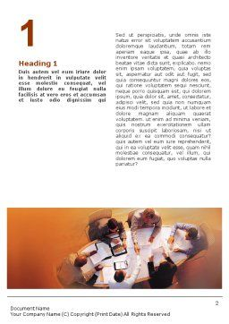 Team Work Word Template, First Inner Page, 01624, Consulting — PoweredTemplate.com