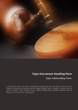 Legal Word Template, Cover Page, 01625, Legal — PoweredTemplate.com