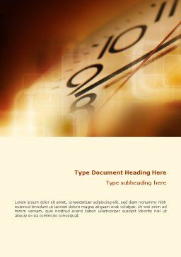Time Watching Word Template, Cover Page, 01626, Business Concepts — PoweredTemplate.com