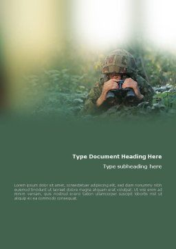 Military Word Template, Cover Page, 01629, Military — PoweredTemplate.com