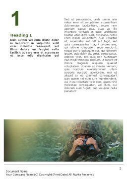 Military Word Template, First Inner Page, 01629, Military — PoweredTemplate.com