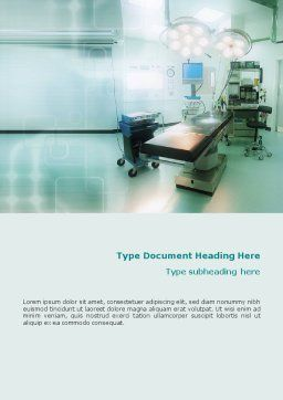 Operating Room In Aqua Colors Word Template, Cover Page, 01631, Medical — PoweredTemplate.com
