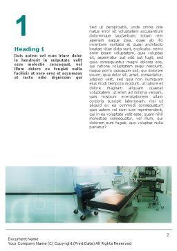 Operating Room In Aqua Colors Word Template, First Inner Page, 01631, Medical — PoweredTemplate.com
