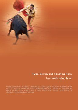 Corrida Word Template, Cover Page, 01632, Careers/Industry — PoweredTemplate.com
