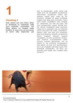 Corrida Word Template, First Inner Page, 01632, Careers/Industry — PoweredTemplate.com
