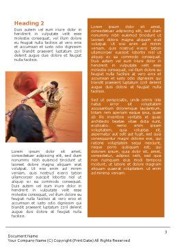 Corrida Word Template, Second Inner Page, 01632, Careers/Industry — PoweredTemplate.com