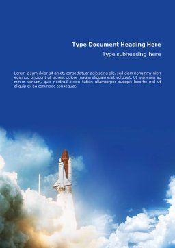 Space Research Word Template, Cover Page, 01634, Construction — PoweredTemplate.com