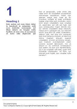 Space Research Word Template, First Inner Page, 01634, Construction — PoweredTemplate.com