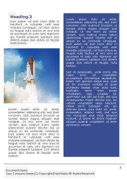 Space Research Word Template, Second Inner Page, 01634, Construction — PoweredTemplate.com