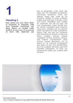 Airplane Word Template, First Inner Page, 01635, Cars/Transportation — PoweredTemplate.com