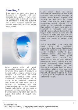 Airplane Word Template, Second Inner Page, 01635, Cars/Transportation — PoweredTemplate.com