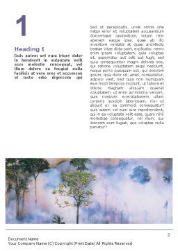 Forest Fire Word Template, First Inner Page, 01636, Nature & Environment — PoweredTemplate.com
