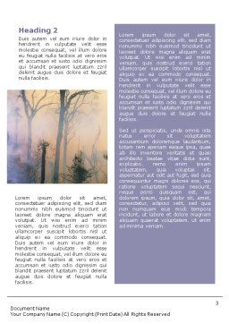 Forest Fire Word Template, Second Inner Page, 01636, Nature & Environment — PoweredTemplate.com