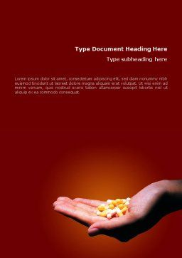 Pharmacies Word Template, Cover Page, 01637, Medical — PoweredTemplate.com