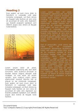 Power Line Word Template, Second Inner Page, 01638, Utilities/Industrial — PoweredTemplate.com