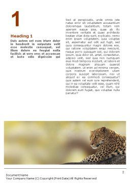 Leopard Word Template, First Inner Page, 01640, Agriculture and Animals — PoweredTemplate.com