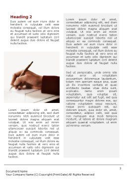 Negotiations Word Template, Second Inner Page, 01642, Business — PoweredTemplate.com