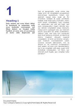 Business Talk Outdoor Word Template, First Inner Page, 01643, Business — PoweredTemplate.com