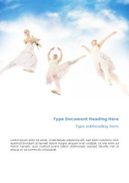 Flying Ballerinas Word Template, Cover Page, 01646, Art & Entertainment — PoweredTemplate.com