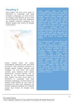 Flying Ballerinas Word Template, Second Inner Page, 01646, Art & Entertainment — PoweredTemplate.com