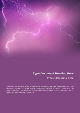 Lightning Word Template, Cover Page, 01647, Nature & Environment — PoweredTemplate.com