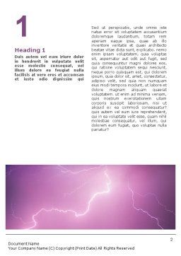 Lightning Word Template, First Inner Page, 01647, Nature & Environment — PoweredTemplate.com