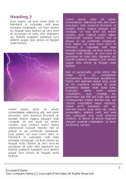 Lightning Word Template, Second Inner Page, 01647, Nature & Environment — PoweredTemplate.com