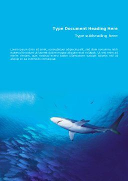 Ocean Wildlife Word Template, Cover Page, 01649, Nature & Environment — PoweredTemplate.com