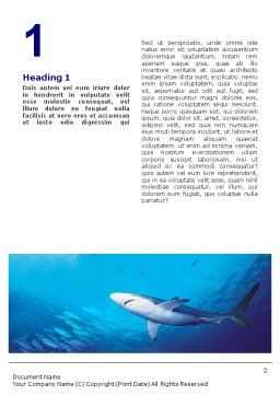 Ocean Wildlife Word Template First Inner Page