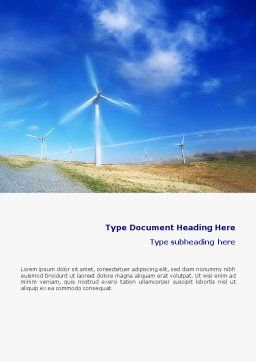 Alternative Energy Source Word Template, Cover Page, 01652, Construction — PoweredTemplate.com