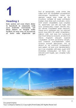 Alternative Energy Source Word Template, First Inner Page, 01652, Construction — PoweredTemplate.com