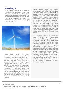 Alternative Energy Source Word Template, Second Inner Page, 01652, Construction — PoweredTemplate.com