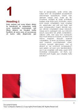 Canadian Flag Word Template, First Inner Page, 01654, Flags/International — PoweredTemplate.com