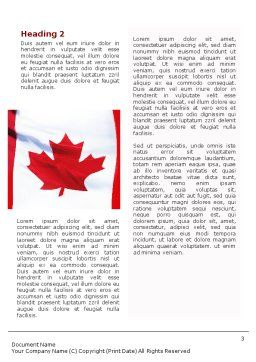 Canadian Flag Word Template, Second Inner Page, 01654, Flags/International — PoweredTemplate.com