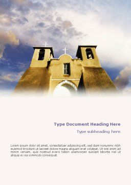 San Francisco de Asis Mission Church Word Template, Cover Page, 01655, Religious/Spiritual — PoweredTemplate.com