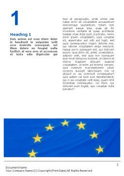 European Union Flag Word Template, First Inner Page, 01657, Flags/International — PoweredTemplate.com