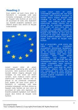 European Union Flag Word Template Second Inner Page