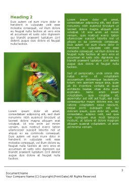 Frog Word Template, Second Inner Page, 01658, Agriculture and Animals — PoweredTemplate.com