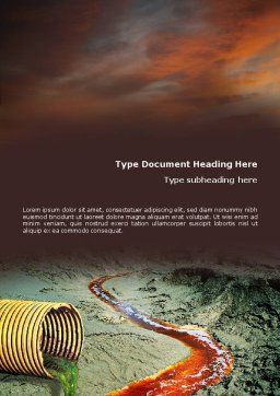 Chemical Pollution Word Template, Cover Page, 01659, Nature & Environment — PoweredTemplate.com