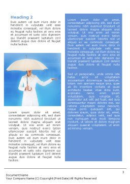 Weather Forecast Word Template, Second Inner Page, 01663, Business Concepts — PoweredTemplate.com