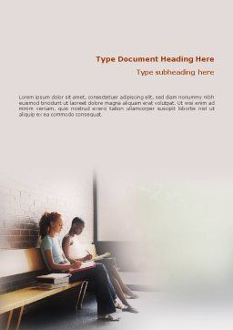 Learn To Word Template, Cover Page, 01666, Education & Training — PoweredTemplate.com