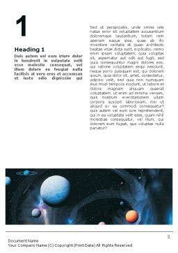 Planets Word Template, First Inner Page, 01667, Technology, Science & Computers — PoweredTemplate.com
