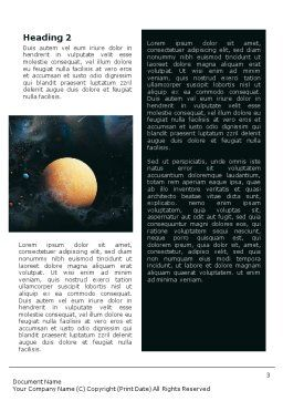 Planets Word Template, Second Inner Page, 01667, Technology, Science & Computers — PoweredTemplate.com