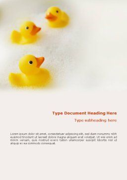 Bath Word Template, Cover Page, 01668, General — PoweredTemplate.com
