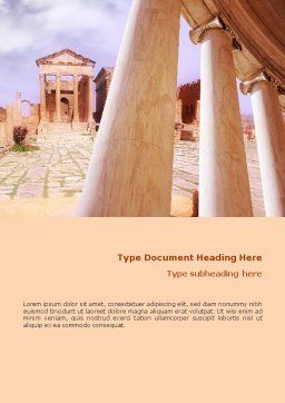 Ancient Greece Word Template, Cover Page, 01670, Construction — PoweredTemplate.com