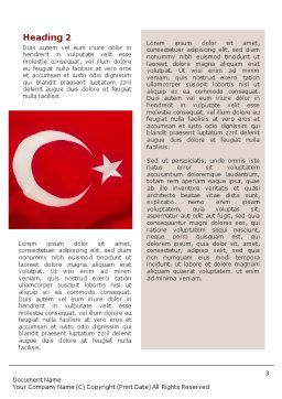 Turkish Flag Word Template, Second Inner Page, 01671, Flags/International — PoweredTemplate.com