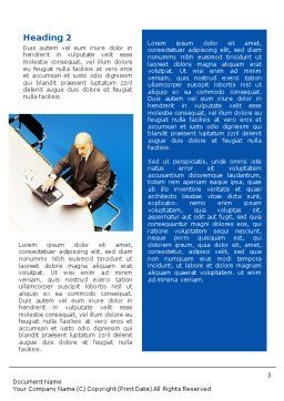 Preparing For Business Meeting Word Template, Second Inner Page, 01672, Business — PoweredTemplate.com