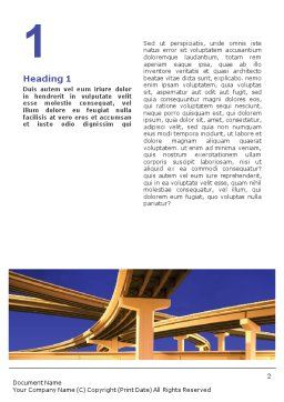 Road Interchange Word Template, First Inner Page, 01673, Construction — PoweredTemplate.com