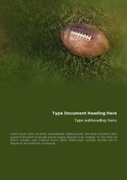 American Football Play Off Word Template, Cover Page, 01674, Sports — PoweredTemplate.com