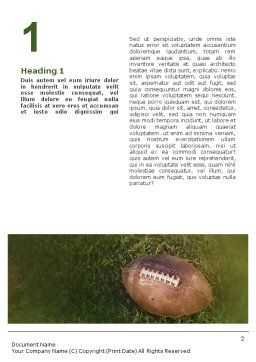 American Football Play Off Word Template, First Inner Page, 01674, Sports — PoweredTemplate.com